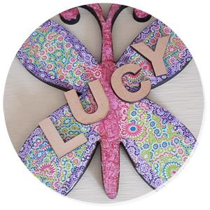 Decopatch Butterfly with letters