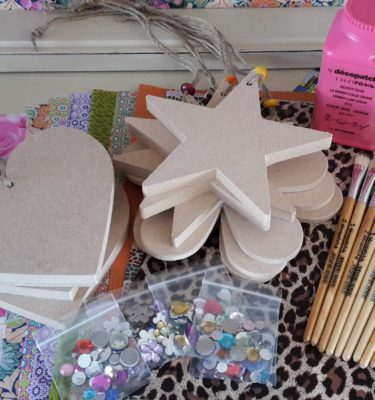 Decopatch Party Kit for 10 - Heart, Flower, Star