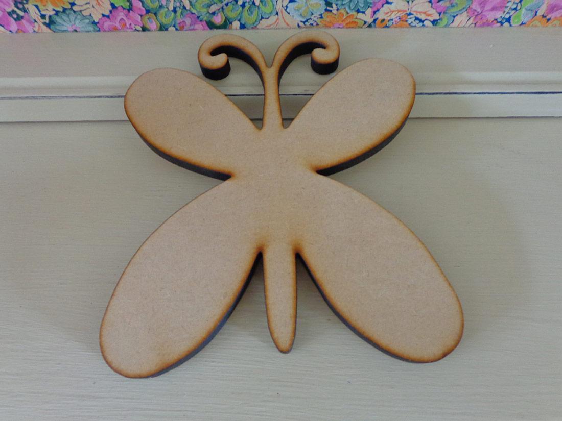 20cm Wooden Butterfly