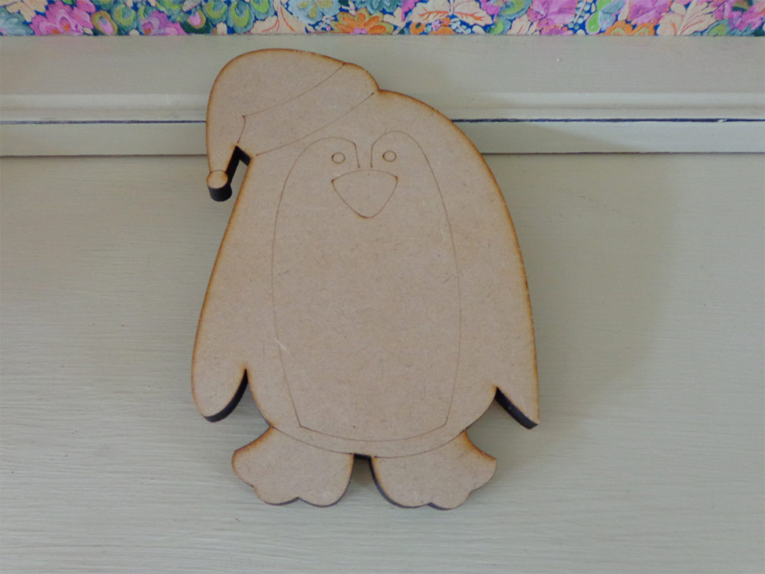 20cm Wooden Penguin