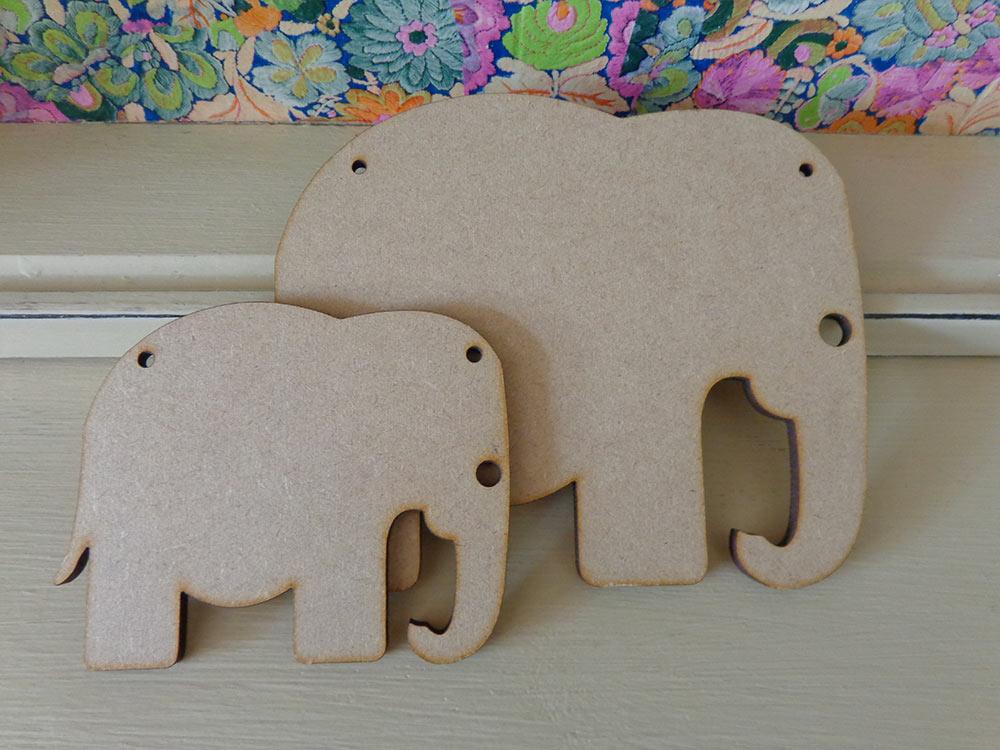 Elephant Bunting Shape - 10cm & 15cm