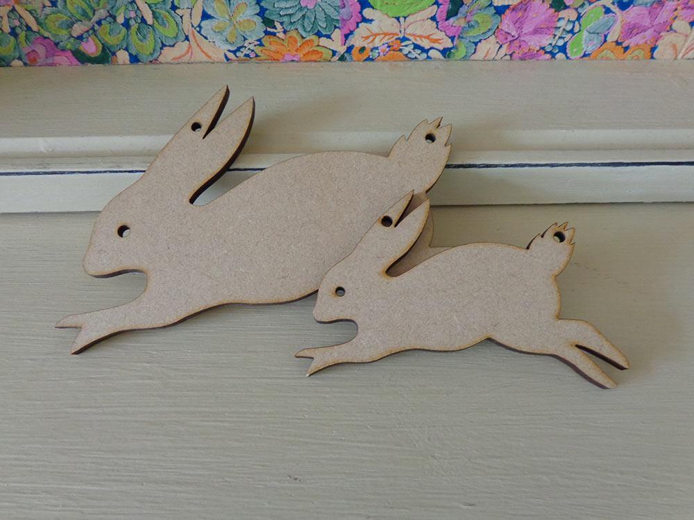 Rabbit Bunting Shape - 10cm & 15cm