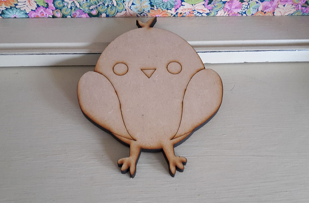 12cm wooden chick