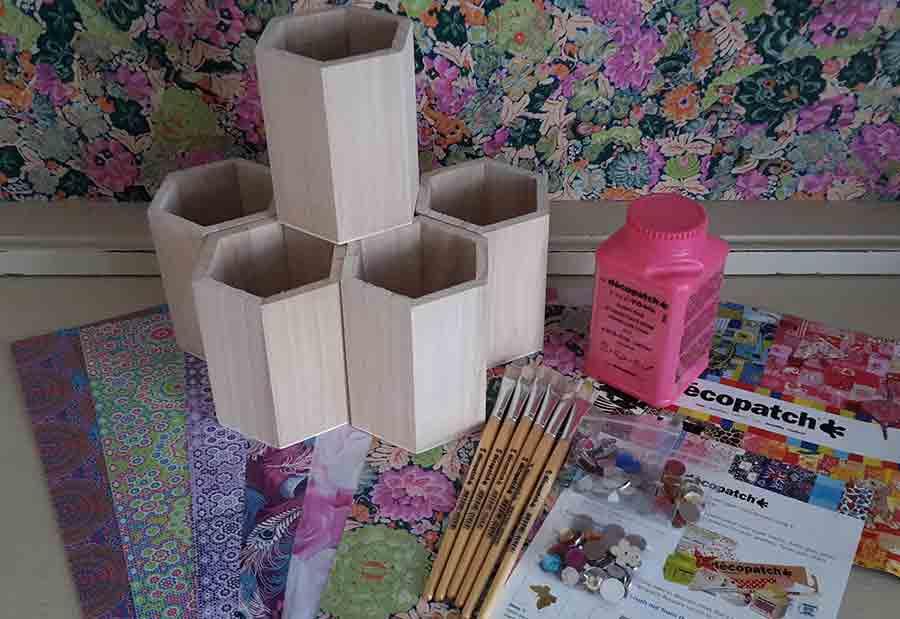Decopatch Pencil Pot Party Kit for 6