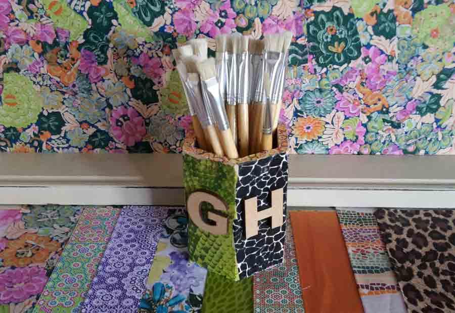 Decopatch Pencil Pot by Crocodile Creations
