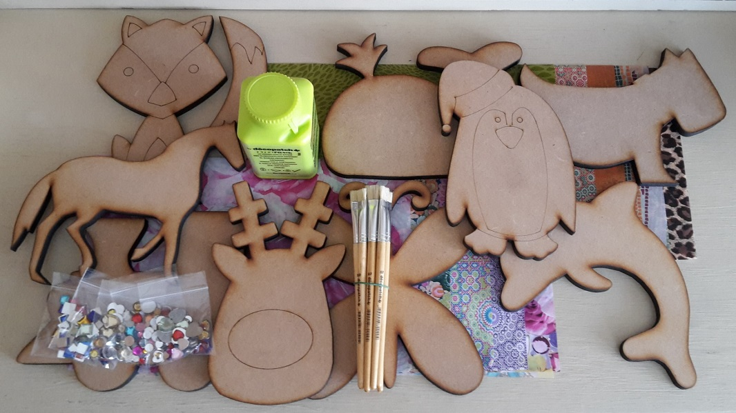 Decopatch Animal Shape Party Kit