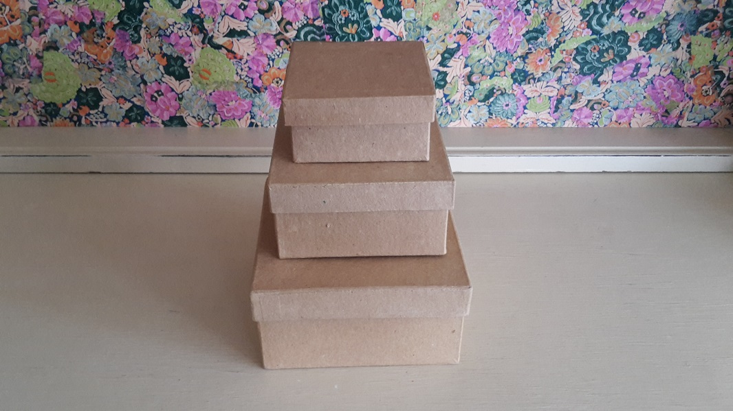 Papier Mache Square Box Set