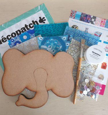 Decopatch Elephant Face Kit