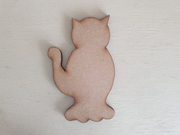 Wooden Cat Shape