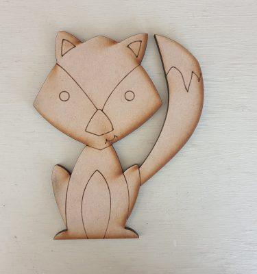 Wooden Fox Craft Shape