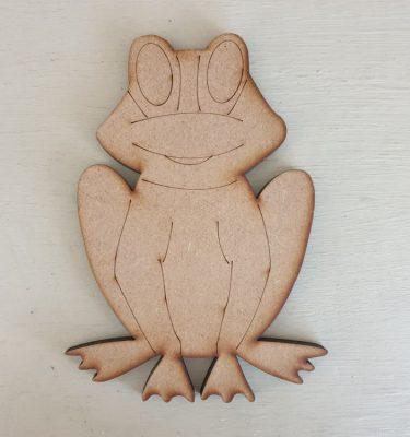 Wooden Frog Shape
