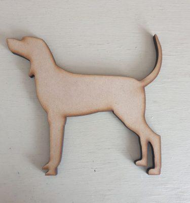 Wooden Dog craft shape