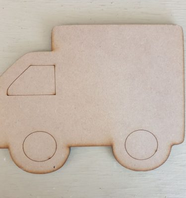 wooden Lorry craft shape