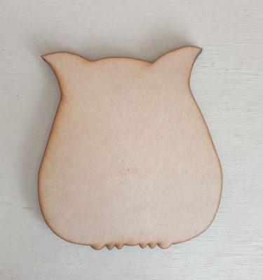 Wooden Owl Craft shape
