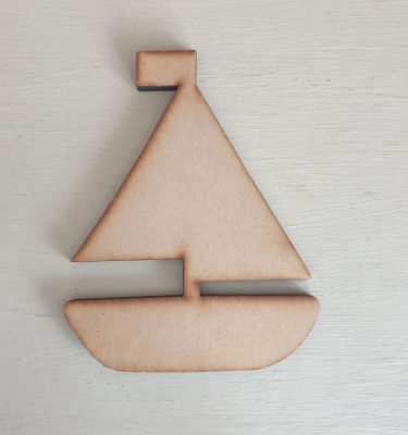 Wooden Sail Boat craft shape