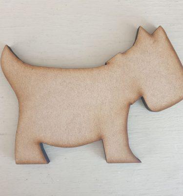 Wooden Scottie Dog Shape