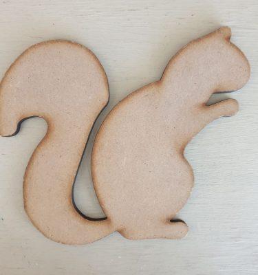 Wooden Squirrel Shape