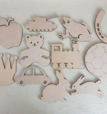 Wooden Craft Shapes - 10cm
